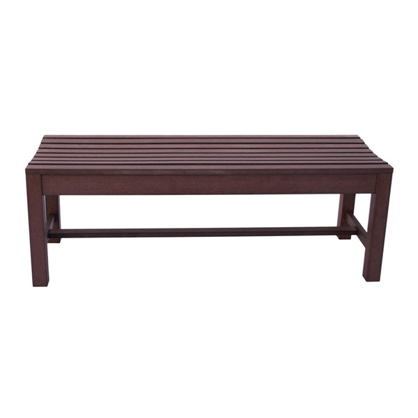 Shine Chateau Brown Outdoor Backless Bench SHN-7204CB