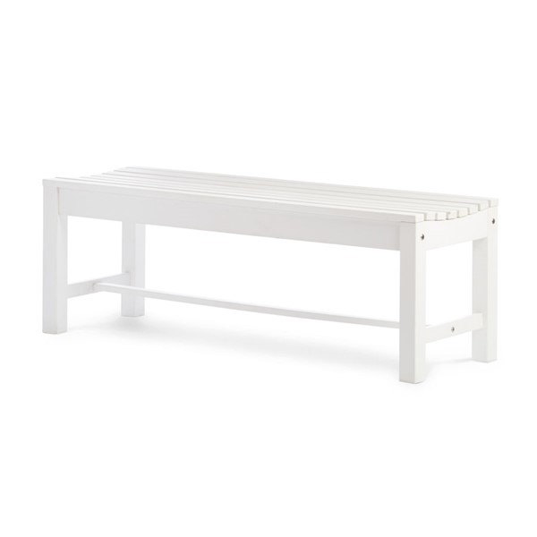 Shine White Outdoor Backless Bench SHN-7204WT