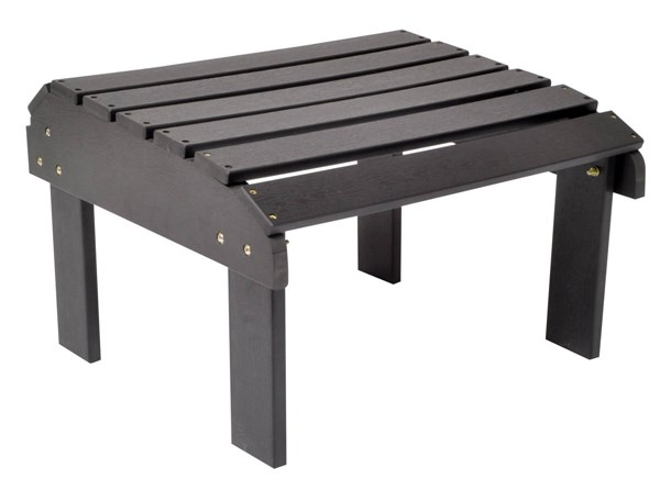 Black Synthetic Wood Rectangle Outdoor Ottomans SHN-7604-OS-OT-VAR