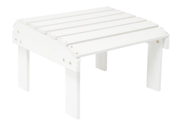 White Synthetic Wood Rectangle Outdoor Ottoman SHN-7604WT