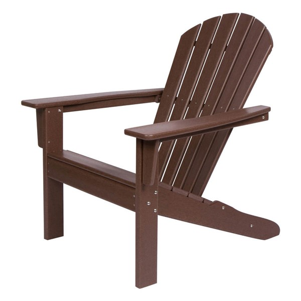 Shine Seaside Mocha Plastic Adirondack Chair SHN-7616MO
