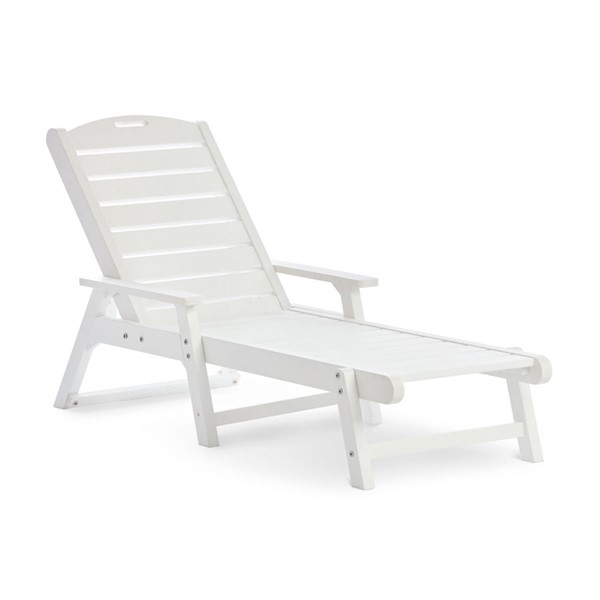 Shine White Outdoor Chaise Lounge SHN-7668WT
