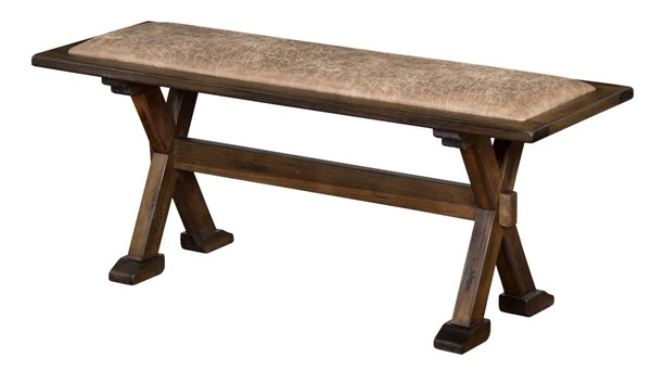 Savannah Antique Charcoal Wood Armless And Backless Side Bench 0222AC-SB