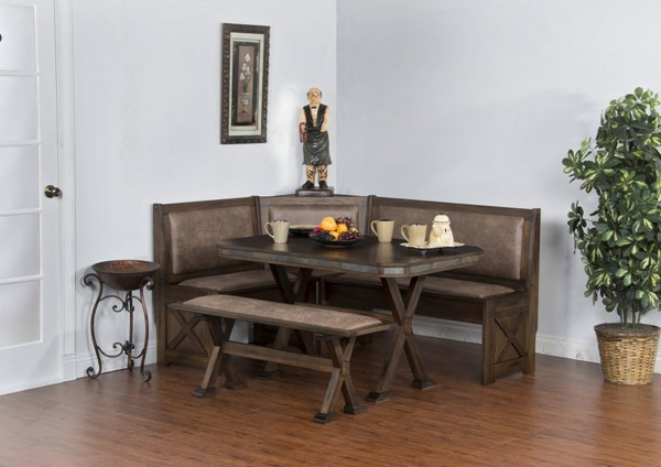 Savannah Antique Charcoal Wood Solid Top Rectangle Dining Table 0222AC-T