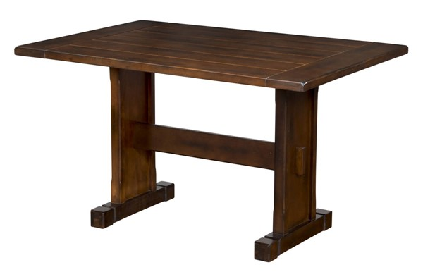 Santa Fe Dark Chocolate Wood Extension Rectangle Dining Table 0230DC-T