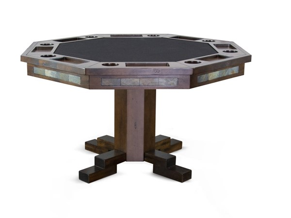 Sunny Designs Santa Fe Dark Brown Game and Dining Table 1004DC