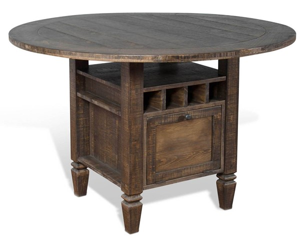 Sunny Designs Homestead Dark Brown Round Counter Height Table 1013TL2