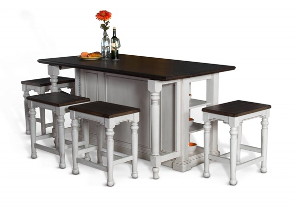 Bourbon County French Country Wood Counter Height / Bar Set 1016FC-1433FC-24W-BAR