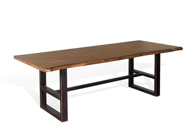 Sunny Designs Live Edge Natural Mindi Dining Table 1031NM