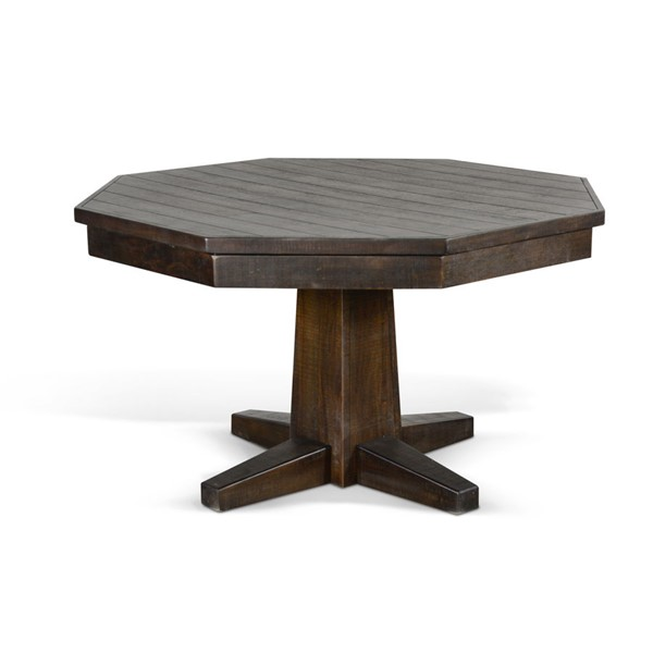 Sunny Designs Homestead Dark Brown Leaf Game and Dining Table 1033TL2