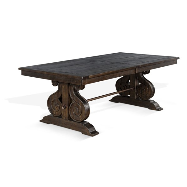 Sunny Designs Stockton Dark Brown Trestle Table 1041RN