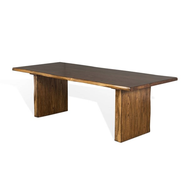 Sunny Designs Carey Live Edge Medium Brown Rectangle Table 1046NW