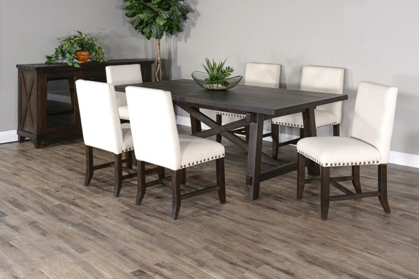Sunny Designs Vivian Dark Brown 7pc Dining Room Set 1102RN-1607RN-DR-S1