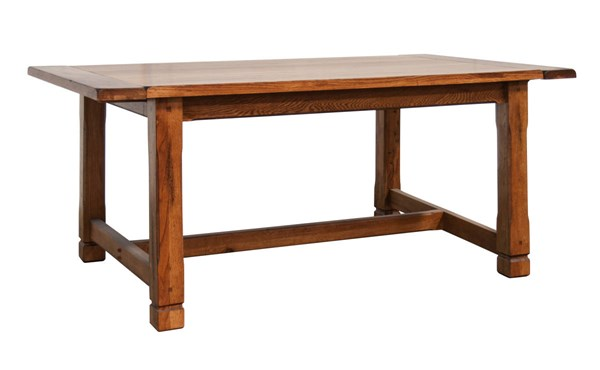 Sedona Rustic Oak Wood Rectangle Extension Dining Table 1116RO
