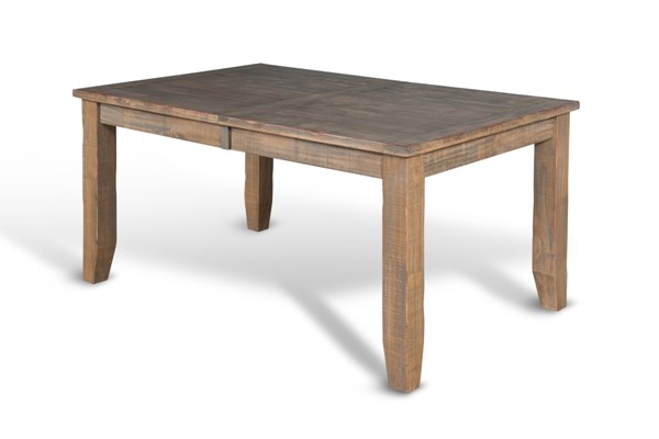 Puebla Driftwood Solid Top Rectangle Dining Table 1140DW
