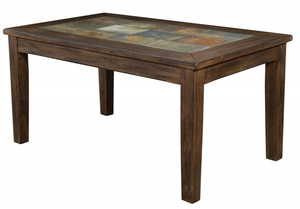 Savannah Antique Charcoal Wood Rectangle Solid Top Dining Table 1170AC