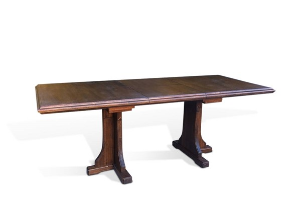 Savannah Antique Charcoal Wood Rectangle Extension Dining Table 1199AC
