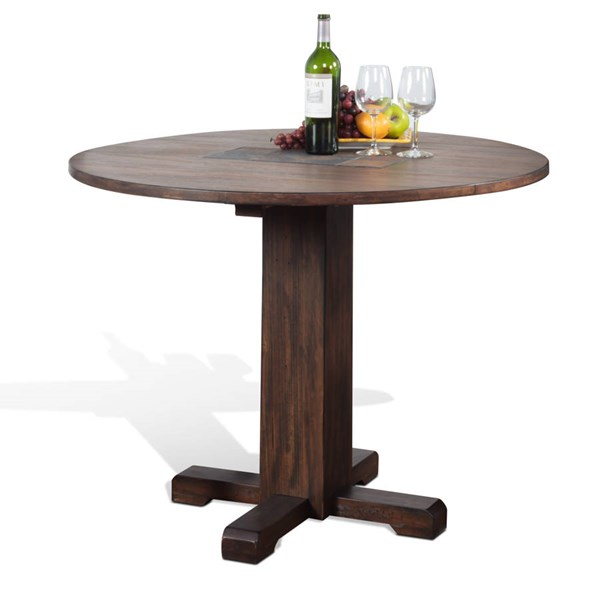 Savannah Antique Charcoal Wood Pedestal Dining Table Base 1223AC-B