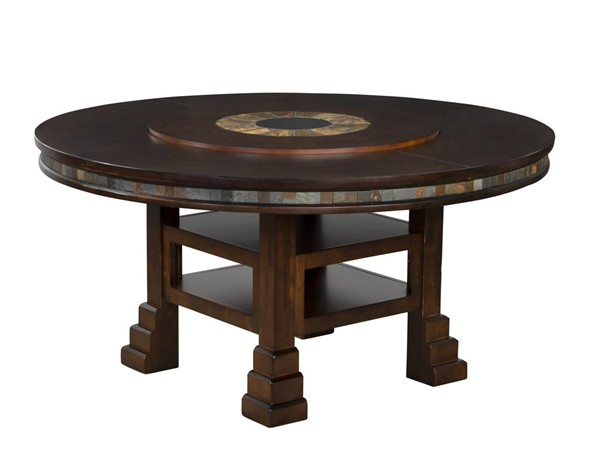 Santa Fe Dark Chocolate Wood Solid Top Round Dining Table 1225DC
