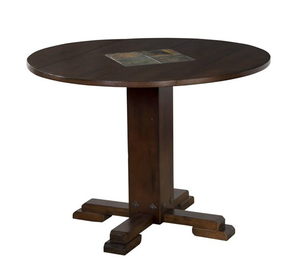 Santa Fe Dark Chocolate Wood Pedestal Dining Table Base 1233DC-B