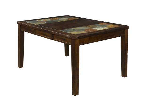 Santa Fe Dark Chocolate Wood Rectangle Extension Dining Table 1273DC