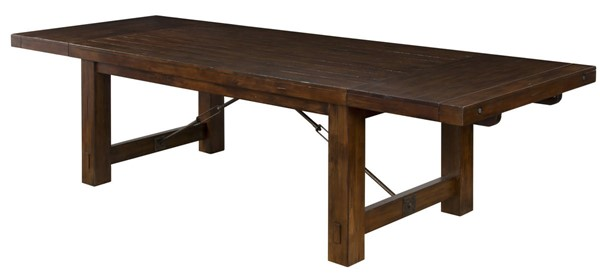 Sunny Designs Tuscany Vintage Mocha Wood Extension Table 1316VM