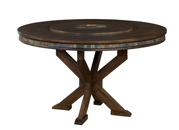 Savannah Antique Charcoal Wood Round Counter Height / Bar Table 1365AC
