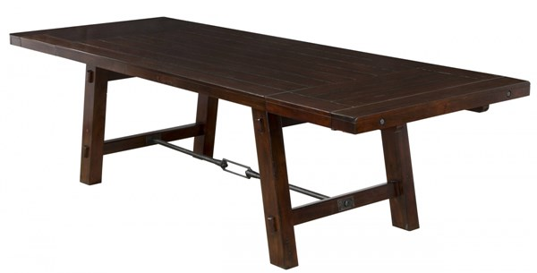 Vineyard Rustic Mahogany Wood Turnbuckle Extension Table 1380RM