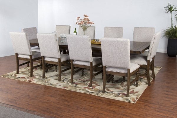Savannah Antique Charcoal Wood Extension 11pc Dining Room Set 1383AC-DR-S2