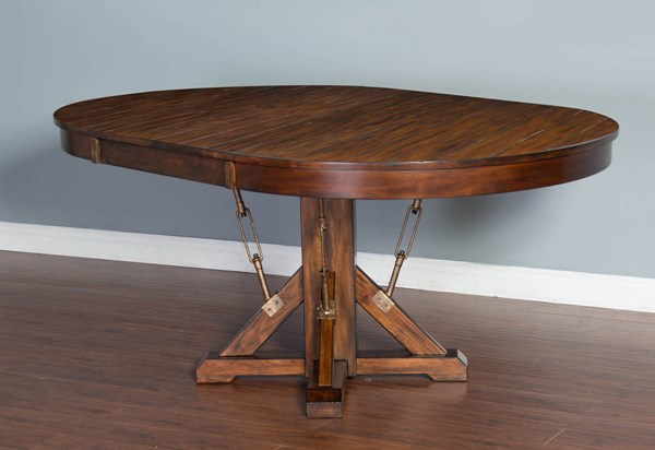 Tuscany Vintage Mocha Wood Dining Table Top 1392VM-T