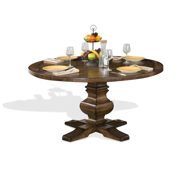 Sunny Designs Cornerstone Medium Brown Round Table 1395BM
