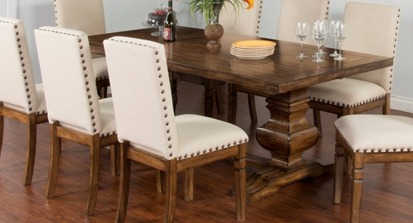 Cornerstone Burnished Mocha Wood Table Top And Base Legs Only 1396BM-T