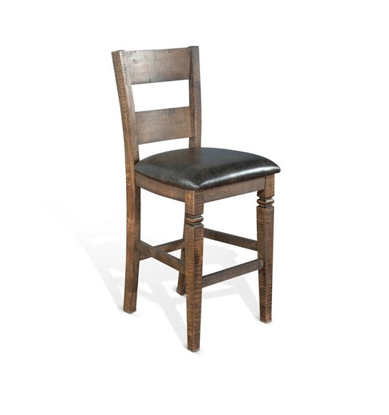 2 Sunny Designs Homestead Dark Brown Ladder Back Barstools 1429TL2-30