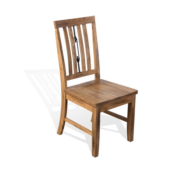 2 Sunny Designs Sedona Rustic Oak Turnbuckle Back Chairs