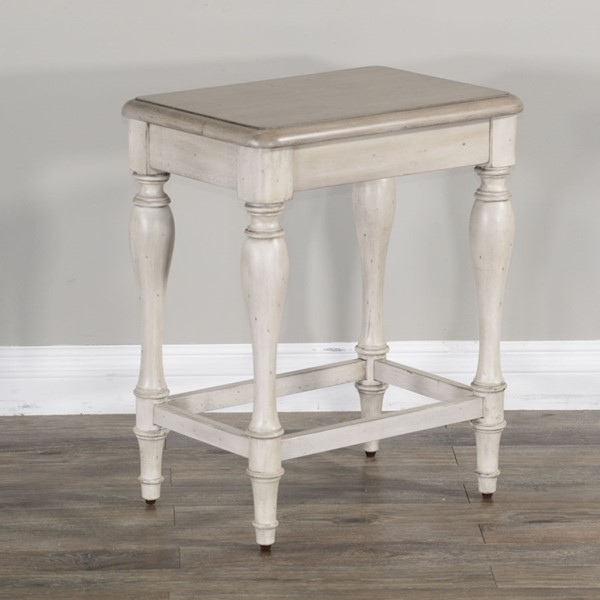 2 Sunny Designs Westwood Village Taupe White Stools 1612WV