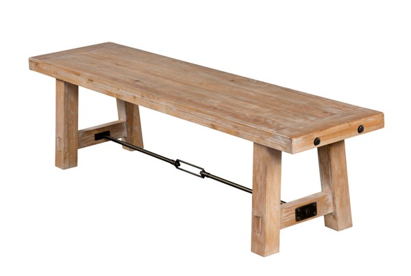 Sandalwood Armless And Backless Solid Seat Bench 1615SW