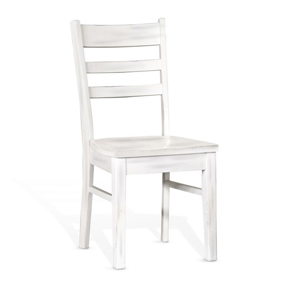 Sunny Designs Bayside Off White Ladder Back Chair 1616MW