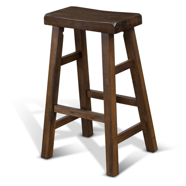 2 Santa Fe Dark Chocolate Wood Saddle Seat Armless And Backless Stools 1769DC