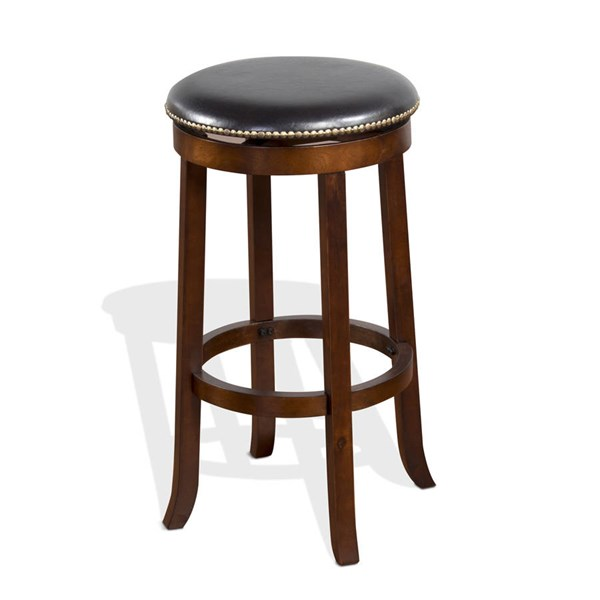 2 Sunny Designs Cappuccino Wood Swivel Barstools 1783CA