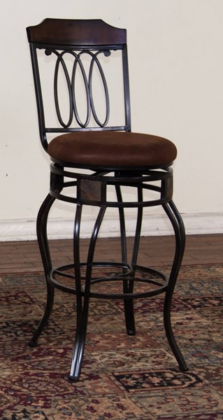 Santa Fe Dark Chocolate Metal Armless 30 Inch Swivel Barstool 1878DC-30