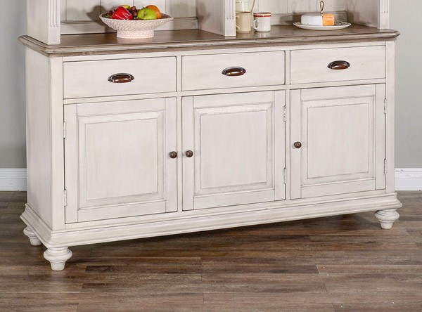 Sunny Designs Westwood Village Taupe White Buffet 1912WV-B
