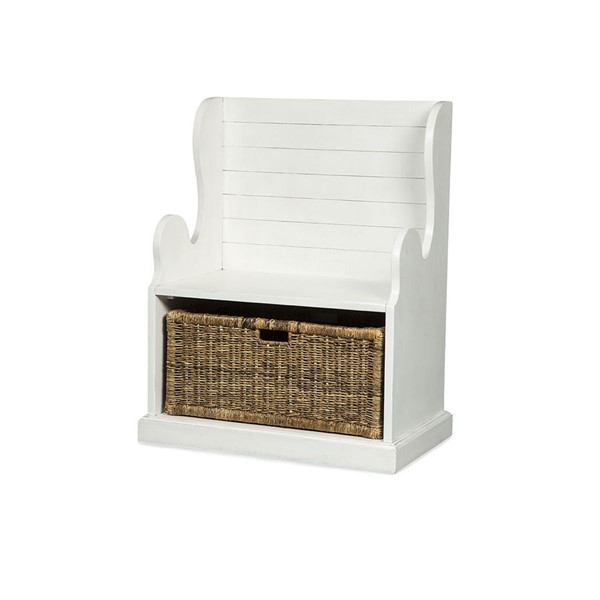 Sunny Designs Manor House White Hall Seat 2026RB