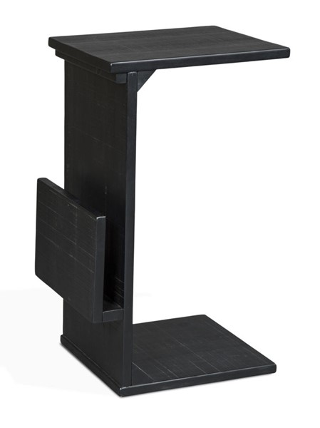 Sunny Designs Manor House Black Chairside Table 2029BB