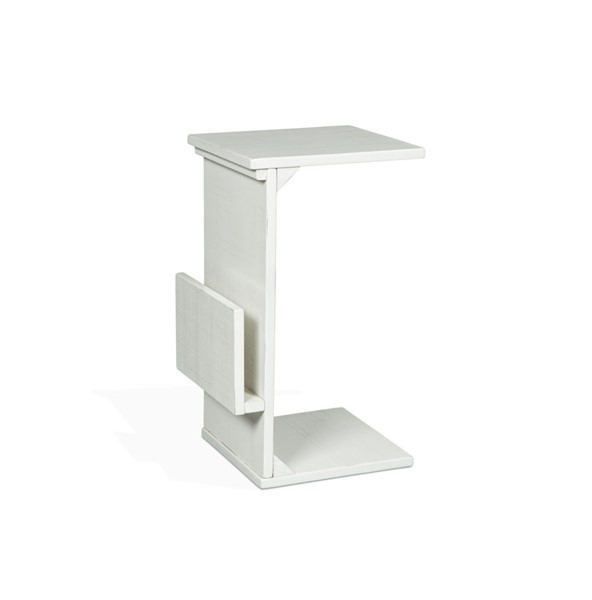 Sunny Designs Manor House White Chairside Table 2029RB