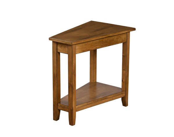 Sunny Designs Rustic Medium Brown Birch Chair Side Table 2226RB