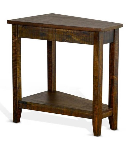 Sunny Designs Dark Brown Chair Side Table 2226TL
