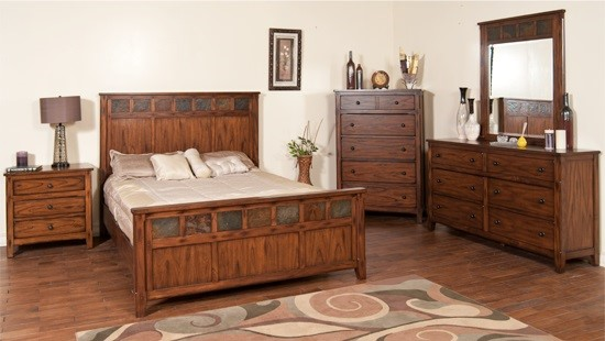 Santa Fe Dark Chocolate Wood Petite King Panel Beds 2333-BEDS