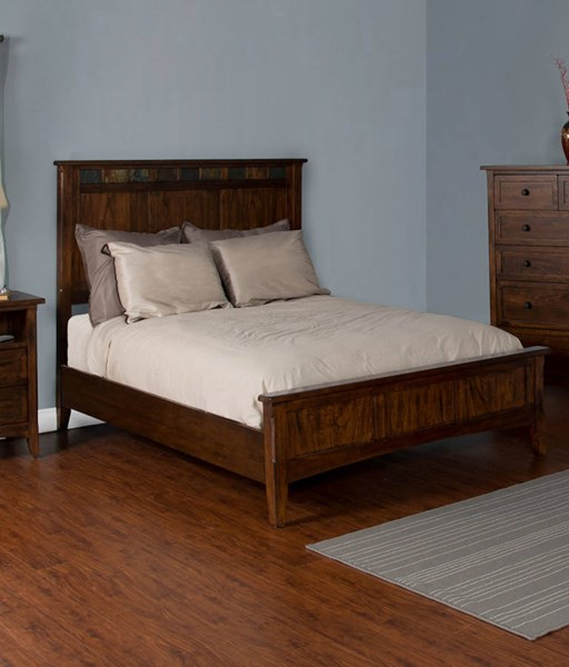Santa Fe Dark Chocolate Solid Wood King Footboard 2395DC-EKF