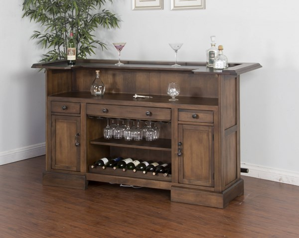 Savannah Antique Charcoal Wood Rectangle Counter Height / Bar Table 2575AC