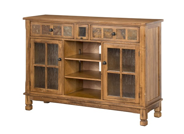 Sedona Rustic Oak Wood Distressed Finish 60 Inch TV I Pod Console 2799RO